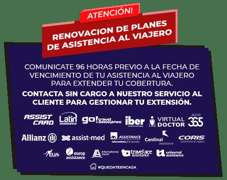 Asistencia al viajero Renovacion para argentinos varados en el exterior