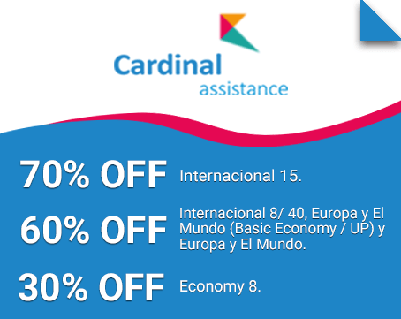 descuentos seguro de viaje cardinal assistance