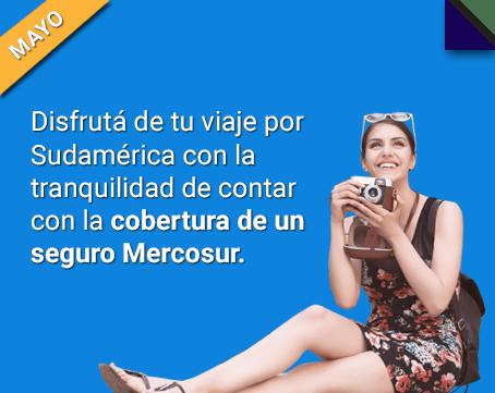 compra y ahorra: compra en 12 cuotas tu seguro de viaje Mercosur